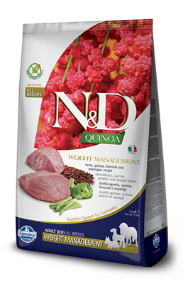 Farmina N&D dog QUINOA Weight Managment Lamb Adult